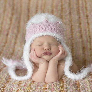 Daisy Baby Abigail Hat in Ivory or Pink