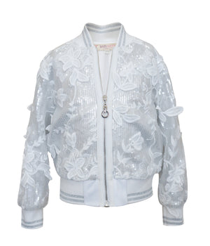 Baby Sara Sequin Lace Bomber Jacket