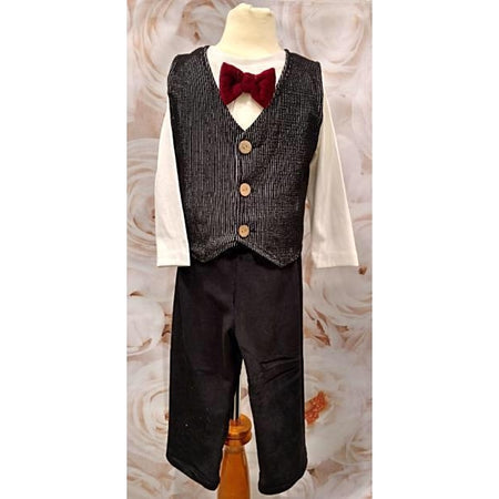 Cach Cach Velvet Vest and Pant