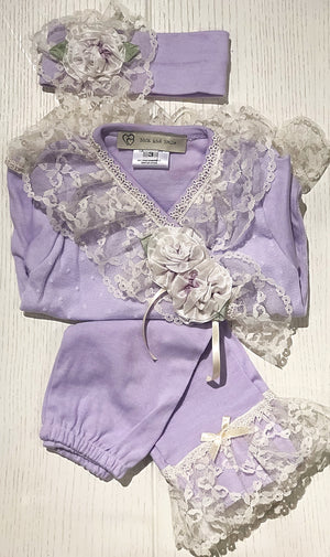 Lilac Lacey Set with Headband