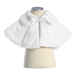 Sweet Kids Fur Cape in White
