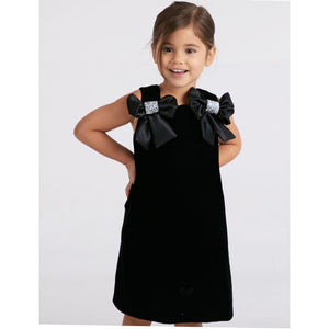 Black Velvet Bow Dress