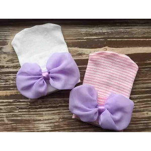 Newborn Cradle Cuties Chiffon Bow Hat