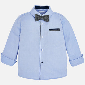 Mayoral Long Sleeve Shirt and Bowtie