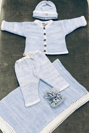 Baby Blue Crochet Set