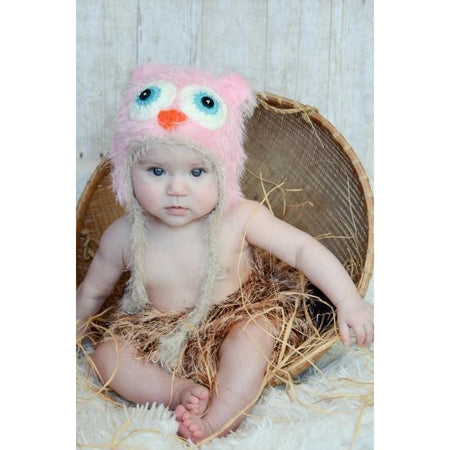 Daisy Baby Knit Fisher Hat in Pink, Blue or Chocolate