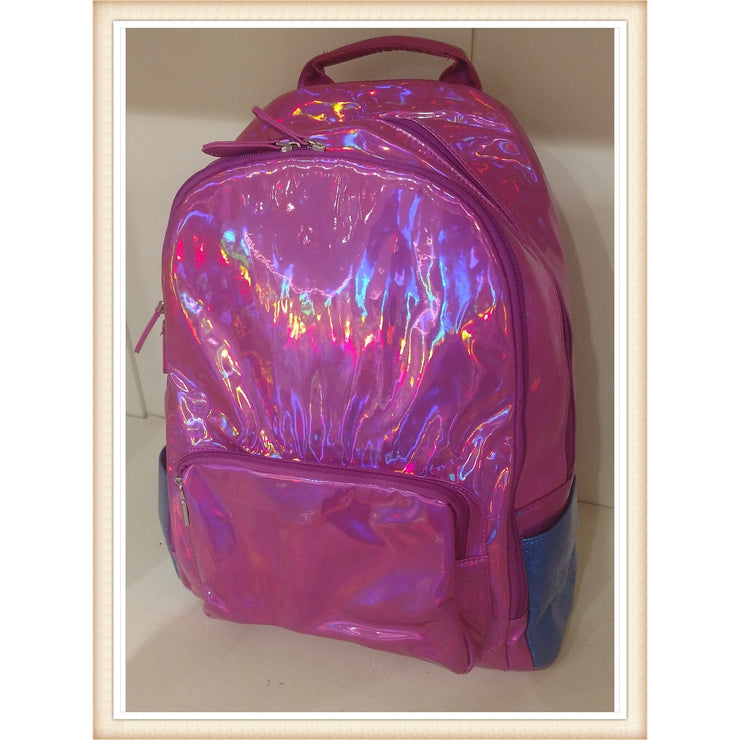 Bari Lynn Tri-Color Hologram Backpack