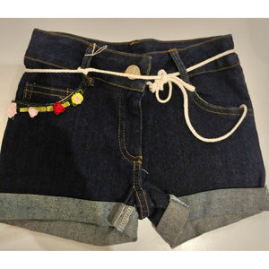 Little Mass Dark Denim Shorts
