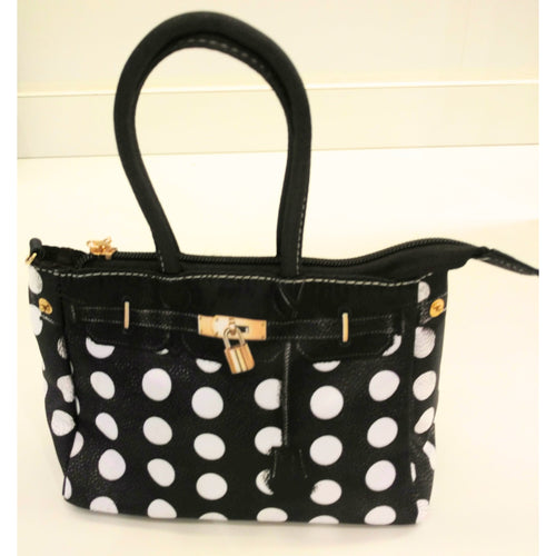 Amiana Black & White Polka Dot
