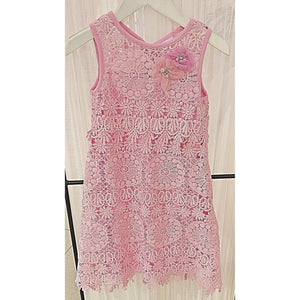 Cach Cach Pretty in Pink Crochet Dress