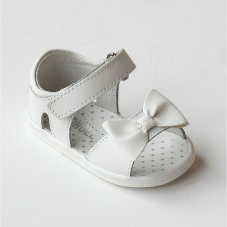 L'Amour White Baby Bow Sandal