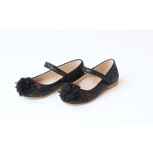L'Amour Black Glitter Shoe