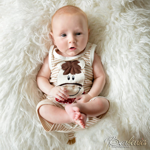Haute Baby Giddy Up Boys Romper