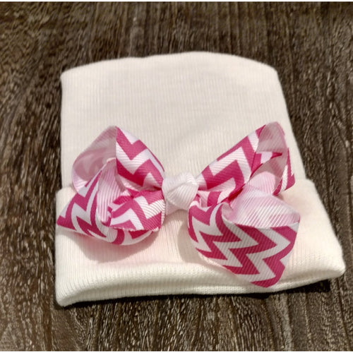 Cradle Cuties Chevron Bow Hat