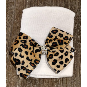 Cradle Cuties Leopard Bow Hat