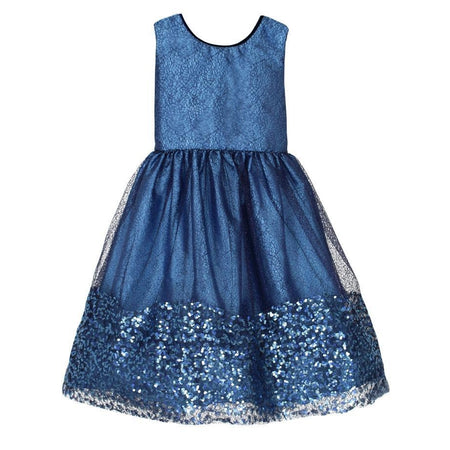 Isabel Garreton Blue Sparkle Dress