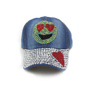 Maniere Denim Emoji Hat
