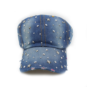 Maniere Denim Star Hat