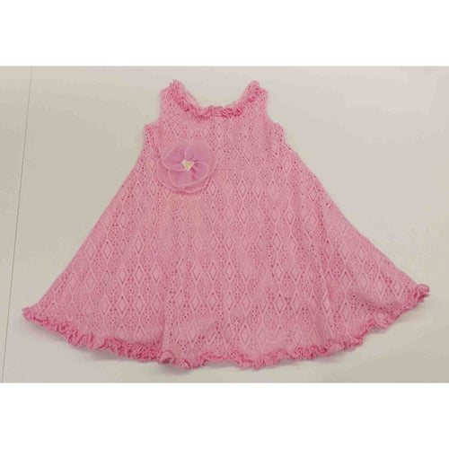 Cach Cach Bubblegum Pink Crochet Dress