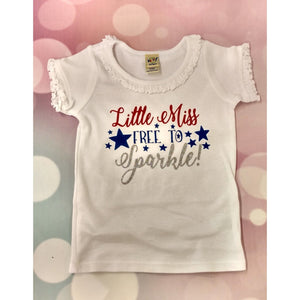 JJ Bowtique Little Miss Free to Sparkle Shirt