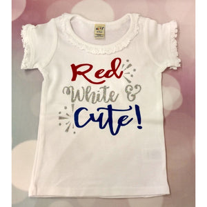 JJ Bowtique Red, White, and Cute Shirt