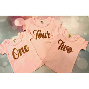 JJ Bowtique Birthday Number Shirt