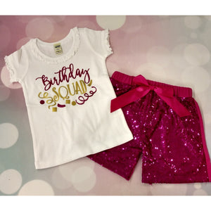 JJ Bowtique Birthday Squad Shirt