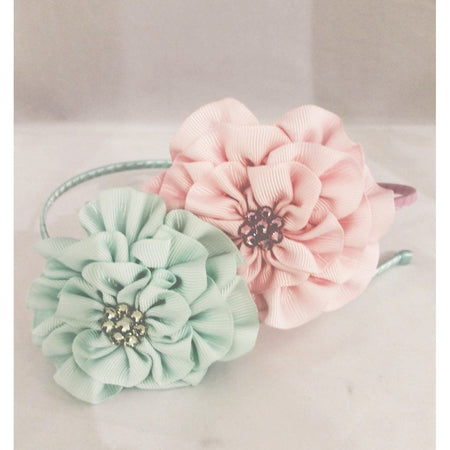 Bari Lynn Grosgrain Flower Headband