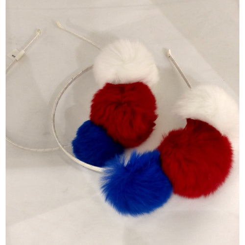 Bari Lynn Small Fur Poms