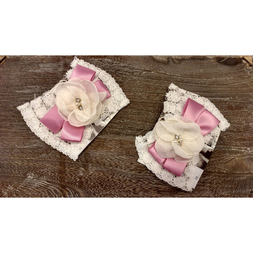 Cach Cach Pink and Ivory Hair Clip