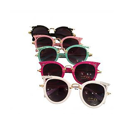 Bari Lynn Crystallized Sunglassess