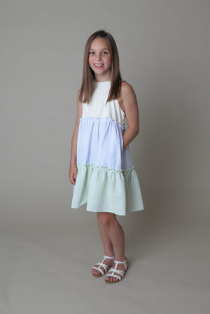Luli & Me Tiered Mix Dress