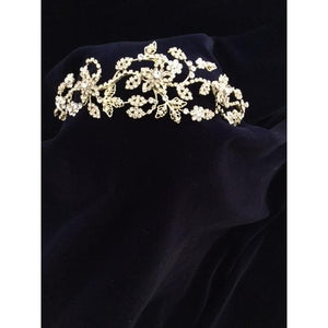 Gold Communion Crystal Tiara