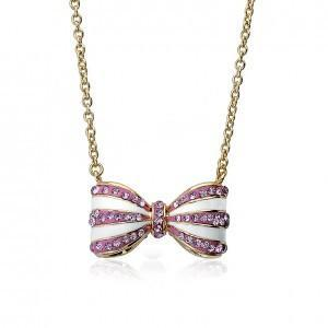 twin stars molly glitz bow stripe bowtique necklace