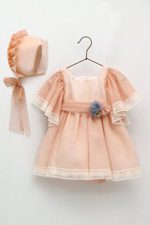 Foque Tulle Dress and Bonnet