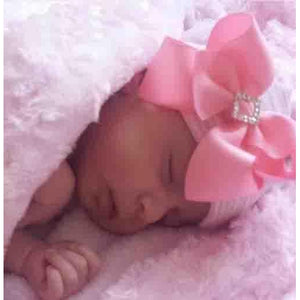 nEWBORN Cradle Cuties Crystal Square Hat
