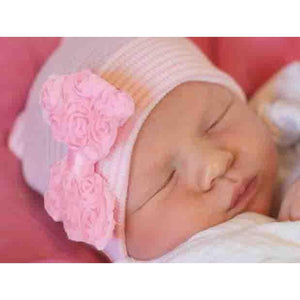 Cradle Cuties Rosette Bow Hat