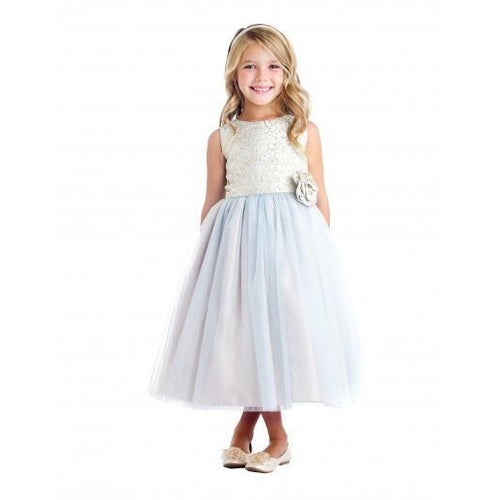 Sweet Kids Tulle and Brocade Dress