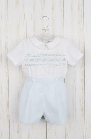Luli and Me Boys Smocked Outfit
