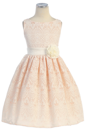 Peach Victorian Lace Dress