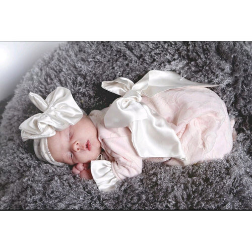 Cuddle Couture Gown with Satin Bow & headband