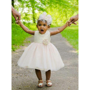 Sweet Kids Brocade and Tulle Flower Girl Dress SKB671