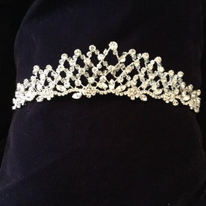 Extravagant Lattice Crystal Communion Tiara