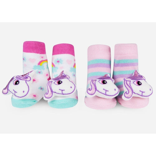 Waddle Unicorn Rattle Socks