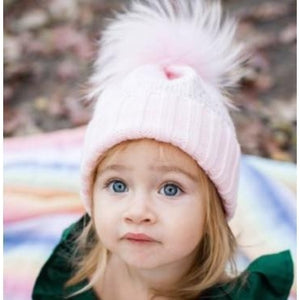 Crystal Studded Single Pom Pom Hat