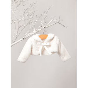 Sweet Kids Ivory Faux Fur Bolero
