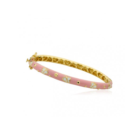 Twin Stars Butterfly Bangle In Pink bracelet