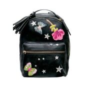 Hannah Banana Backpack in Black Leather