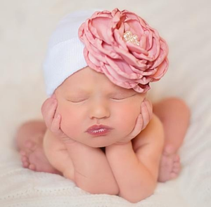 IlyBean Silk Rose and Pearls Hat