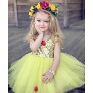 Sparkle Yellow Princess Dress